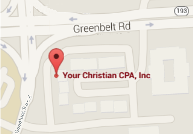 We're located at the corner of Goodluck Road and Greenbelt Road (193). Across the street from Duval High School